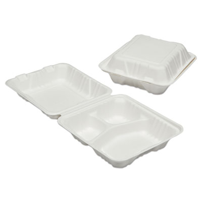 AbilityOne 6646905 SKILCRAFT Clamshell Hinged Lid To-Go Food Containers