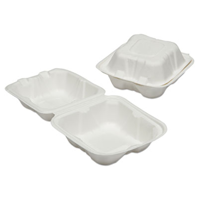 AbilityOne 6646906 SKILCRAFT Clamshell Hinged Lid To-Go Food Containers
