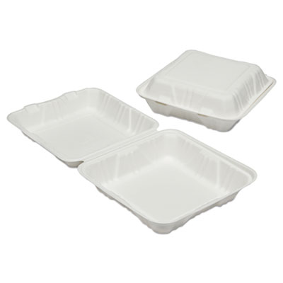 AbilityOne 6646907 SKILCRAFT Clamshell Hinged Lid To-Go Food Containers