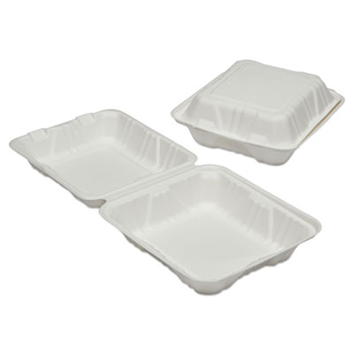 AbilityOne 6646908 SKILCRAFT Clamshell Hinged Lid To-Go Food Containers