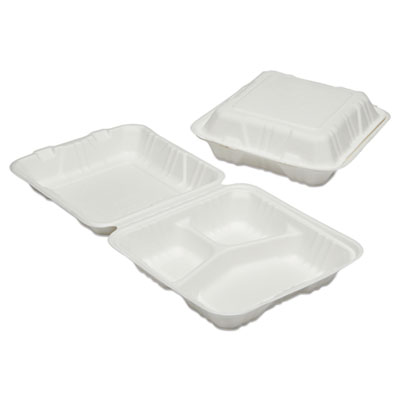 AbilityOne 6646909 SKILCRAFT Clamshell Hinged Lid To-Go Food Containers