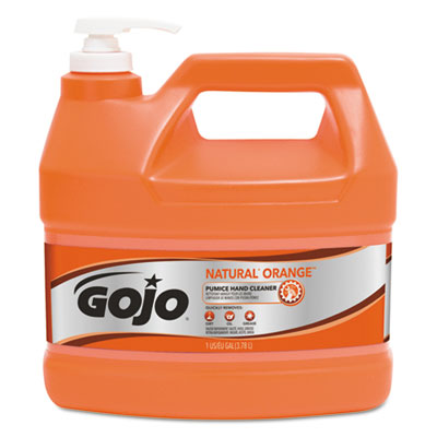 GOJO 095504CT NATURAL ORANGE Pumice Hand Cleaner with Pump Dispenser