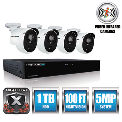 Night Owl XHD50144PB 4 Channel Extreme HD Video Security DVR
