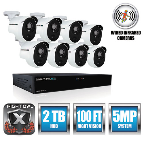 Night Owl XHD50288PB 8 Channel 5 MP Extreme HD Video Security DVR