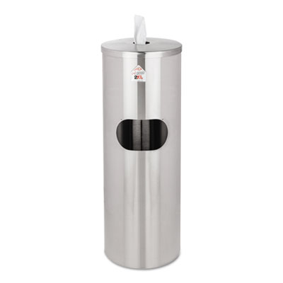 2XL L65 Standing Stainless Wipes Dispenser