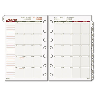Day Runner 068685Y Monthly Planning Pages Refill