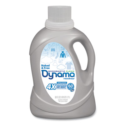 Dynamo Naked and Free Laundry Detergent, 60 oz Bottle, 6/Carton (DYNMO23)