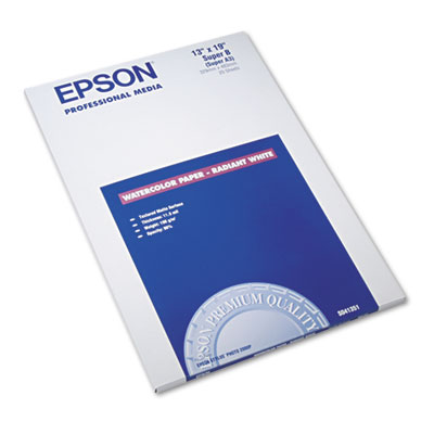 Epson S041351 Watercolor Radiant White Inkjet Paper