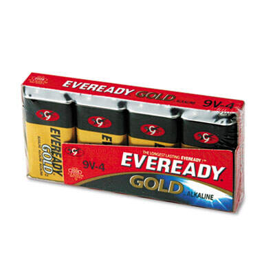 Eveready Gold 9V Batteries 4 Pack A5224