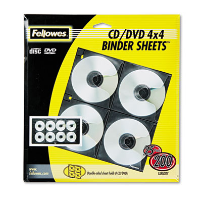 Fellowes 95321 CD/DVD Protector Sheets for Three-Ring Binders