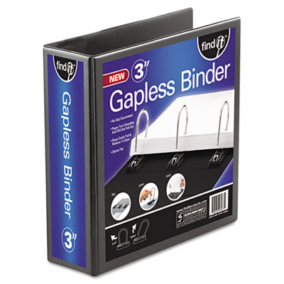 Snap-N-Store FT07073 find It Gapless Loop Ring View Binder