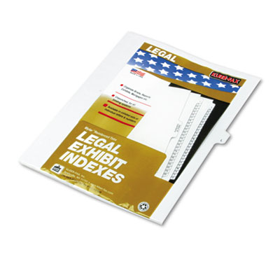 Kleer-Fax 80012 80000 Series Alpha Side Tab Legal Index Divider