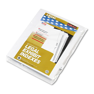 Kleer-Fax 80021 80000 Series Alpha Side Tab Legal Index Divider