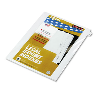 Kleer-Fax 82226 80000 Series Numerical Side Tab Legal Index Divider