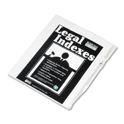 Kleer-Fax 82231 80000 Series Numerical Side Tab Legal Index Divider