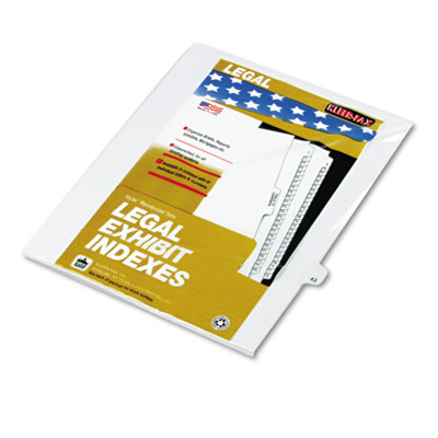 Kleer-Fax 82243 80000 Series Numerical Side Tab Legal Index Divider