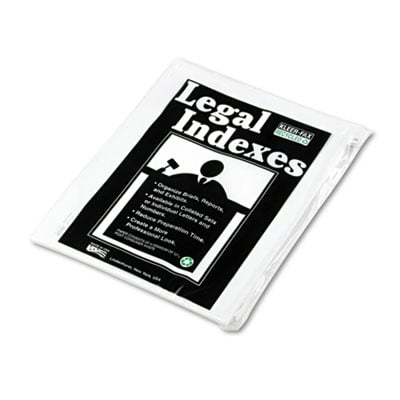 Kleer-Fax 91025 90000 Series Numerical Side Tab Legal Index Divider
