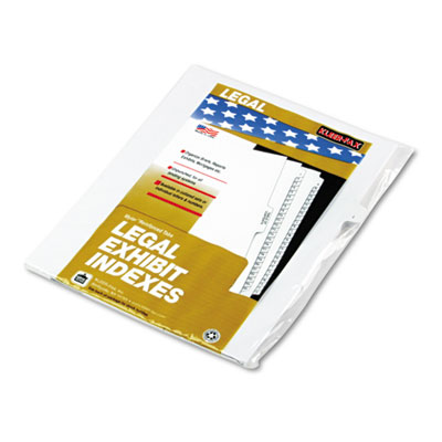 Kleer-Fax 91809 90000 Series Alpha Side Tab Legal Index Divider