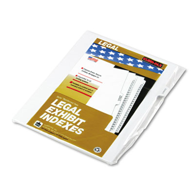 Kleer-Fax 91853 90000 Series Exhibit Alpha Side Tab Legal Index Divider