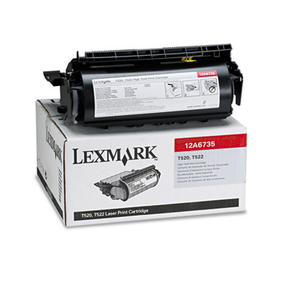 Lexmark 12A6735 Black Toner Cartridge