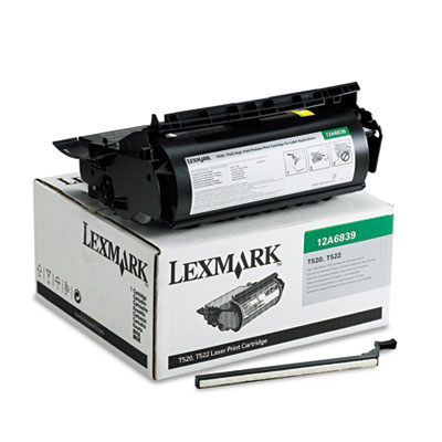 Lexmark 12A6839 Black Toner Cartridge