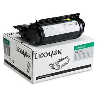 Lexmark 12A7465 Black Toner Cartridge