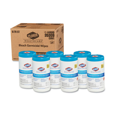 Clorox Healthcare Bleach Germicidal Wipes 6 x 5 Unscented 150//Canister 30577
