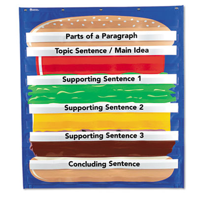 Lesro LER2291 Learning Resources Hamburger Sequencing Pocket Chart