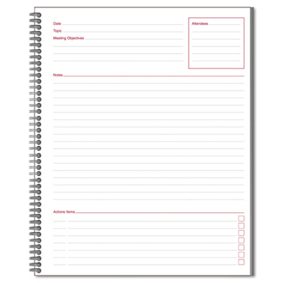 Mead 06132 Cambridge Wirebound Guided Business Notebook
