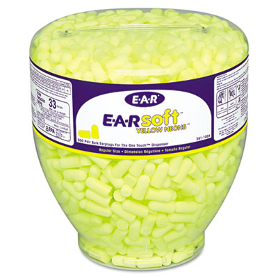 3M 3911004 EARsoft Yellow Neon Earplug Refill for One Touch Dispensers