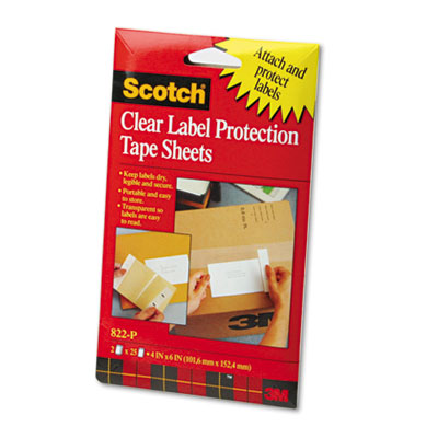 3M 822P Scotch ScotchPad Label Protection Tape Pads