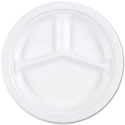 AbilityOne 2636700 SKILCRAFT Waterproof Paper Plates