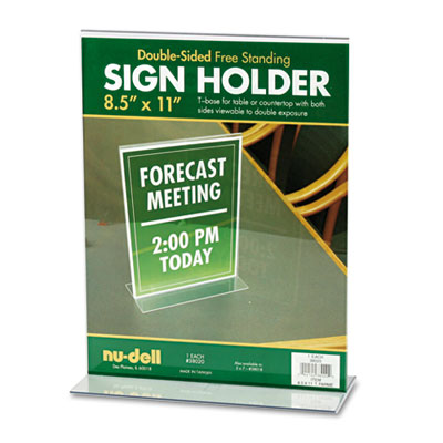 Nu-Dell 38020 NuDell Acrylic Sign Holder