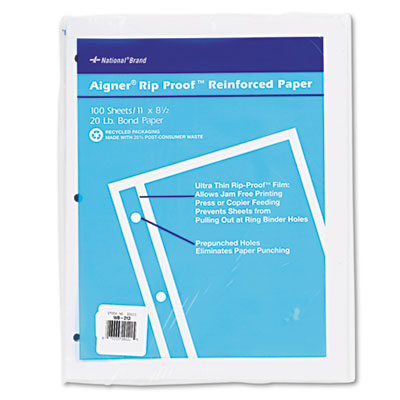 Rediform 20121 National Brand Rip Proof Reinforced Filler Paper