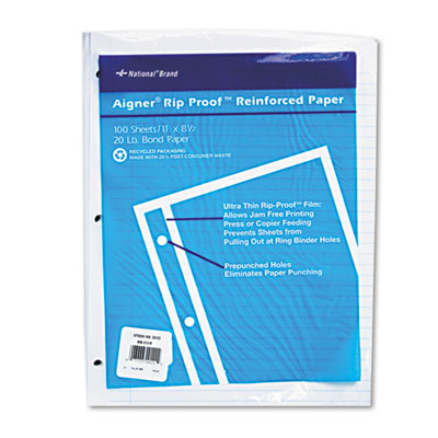 Rediform 20122 National Rip Proof Reinforced Filler Paper