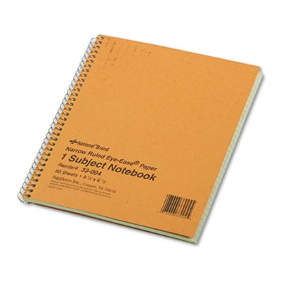 Rediform 33004 National Brand Single-Subject Wirebound Notebooks