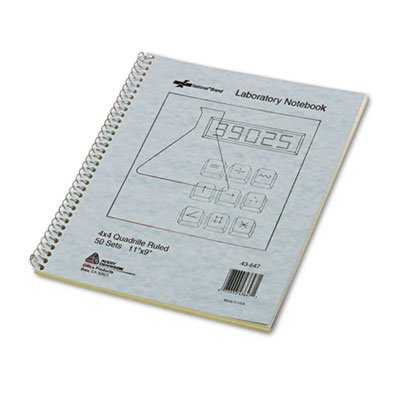 Rediform 43647 National Brand Duplicate Laboratory Notebooks