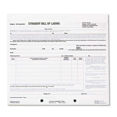 Rediform 44301 Snap-A-Way Bill of Lading Short Form