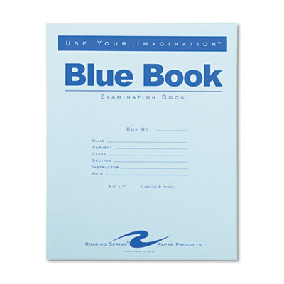 Roaring Spring 77510 Examination Blue Book
