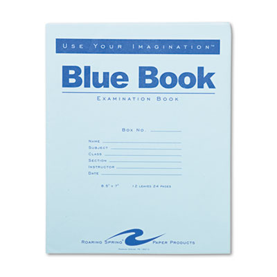 Roaring Spring 77513 Examination Blue Book