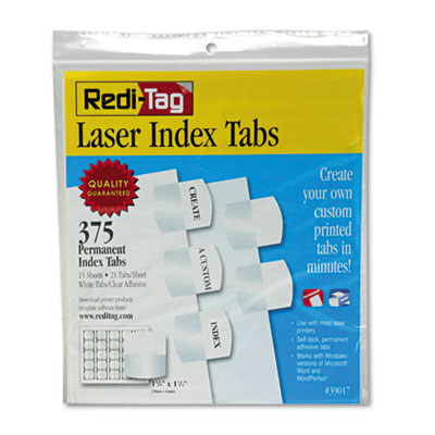 Redi-Tag 39017 Laser and Inkjet Printable Index Tabs