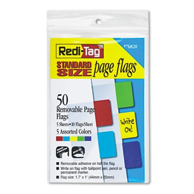 Redi-Tag 76820 Removable/Reusable Standard Page Flags Value Pack