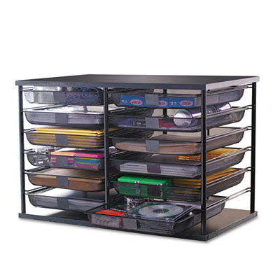 Rubbermaid 1735746 12-Compartment Organizer with Mesh Drawers