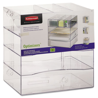 Rubbermaid 94600ROS Optimizers Multifunctional Four-Way Organizer with Drawers