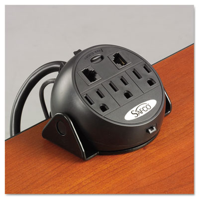 Safco 2059BL Three-Outlet Power Module