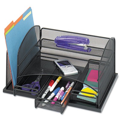 Safco 3252BL Onyx Organizer with Three Drawers
