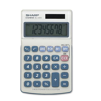 Sharp EL240SAB EL240SB Handheld Business Calculator
