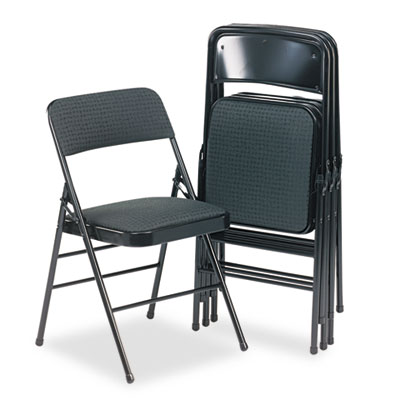 Cosco 36885CVB4 Deluxe Fabric Padded Seat and Back Folding Chair