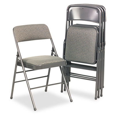 Cosco 36885CVG4 Deluxe Fabric Padded Seat and Back Folding Chair