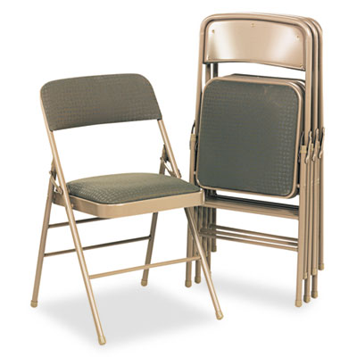 Cosco 36885CVT4 Deluxe Fabric Padded Seat and Back Folding Chair